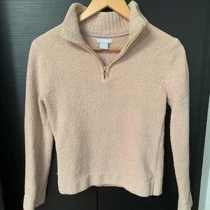 Sweaters - Kenji Zippered Cream Sweater